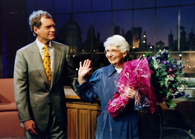 "David Letterman's mom, Dorothy Mengering, dies at 95. She made occasional appearances as a celebrity interviewer and the consummate pie baker, always smiling and responding to her son's ribbing with a patient ""David …"" 