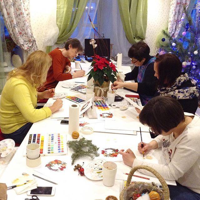 Спасибо участникам за душевную и тёплую атмосферу сегодня!  Выкладывайте ваши работы под тэгами #anastasiakolbina_mk #drawteam 🎄⭐️🎄