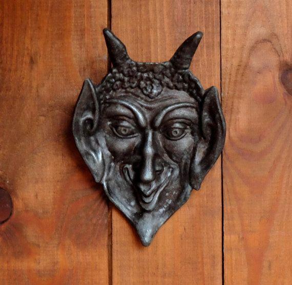 Devil Ashtray Vintage metal demon face ashtray by MadeInTheUSSR