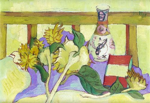 Alexis Preller  Still Life with Sunflowers and Vase 1940
