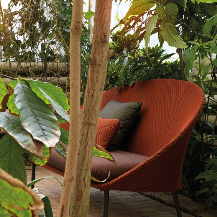 Twins Loveseat By Alberto Sánchez MUT Design. Upholstered In Omega Outdoor  Paprika. Outdoor
