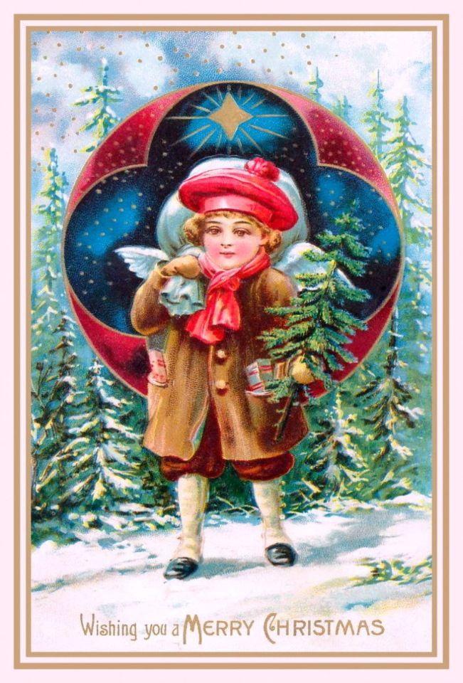 С Рождеством!!! Винтажные рождественские открытки.. Обсуждение на LiveInternet - Российский Сервис Онлайн-Дневников