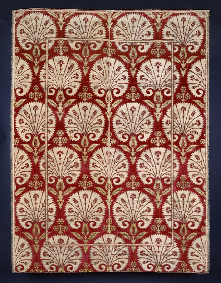 17th century ottoman kadife (velvet) with carnations