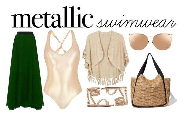 Metallic Swimwear by ratihasmarani on Polyvore featuring George J. Love, Kinross and Linda Farrow