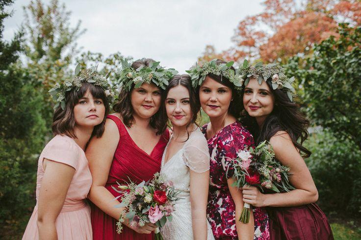Garfield Park Conservatory Wedding Bride & Bridesmaids