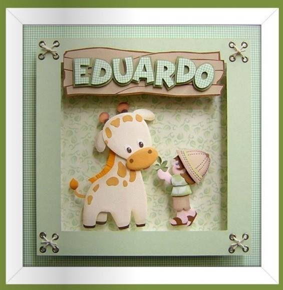 Quadro quarto do bebê ou menino   KAROCHAARTES EM SCRAP E EVA   21E855 - Elo7