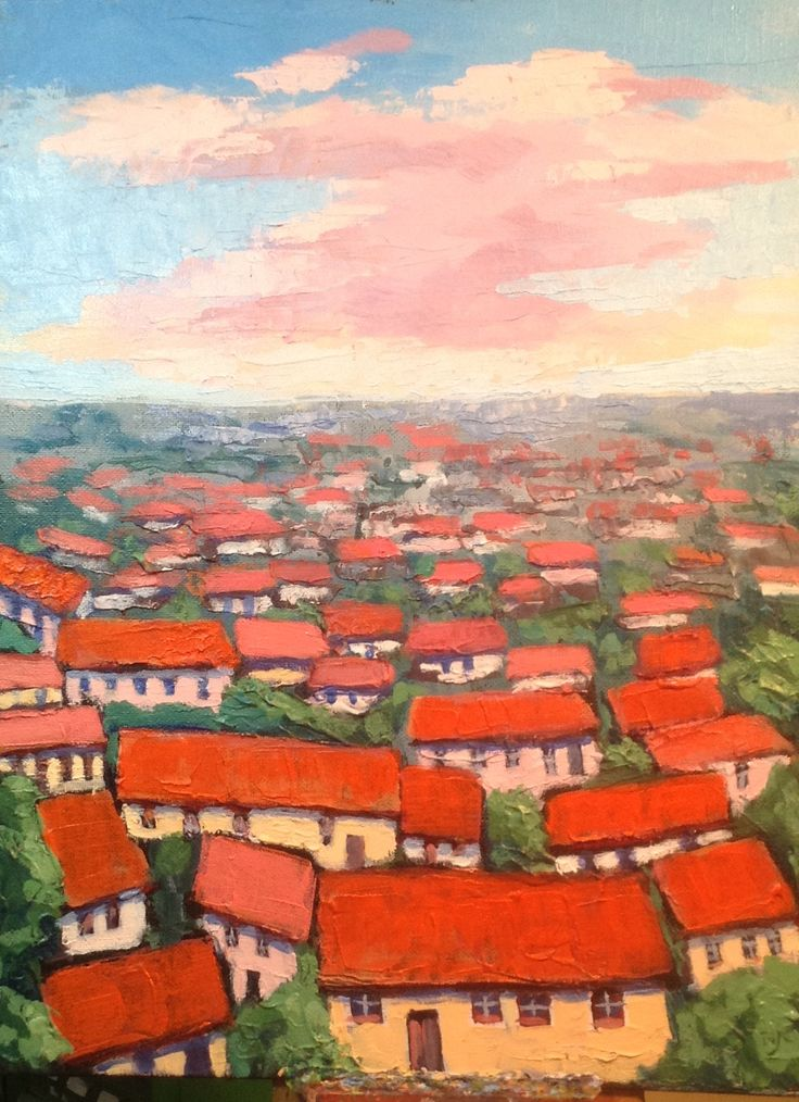 Carcassone, France, recent painting