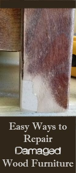 Here are a few ways you can repair damaged wood furniture, without having to fully refinish it or redo the entire surface of the piece. Gel-Stain - If you have nicks or scratches that are exposing the raw wood, you can brush on a gel-stain. You should be able to