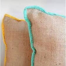 Resultado de imagen para almohadones de arpillera