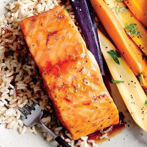 Honey-Ginger Glazed Salmon | MyRecipes.com
