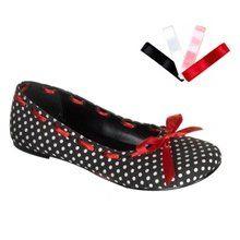 Rockabilly Shoes: Polka Dot Ballet Flats Rockabilly Shoes