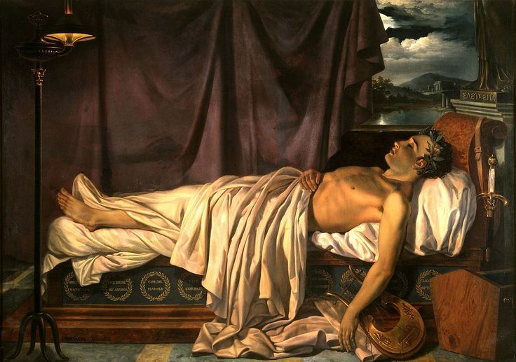 Лорд Байрон на смертном одре с.  1826.jpg