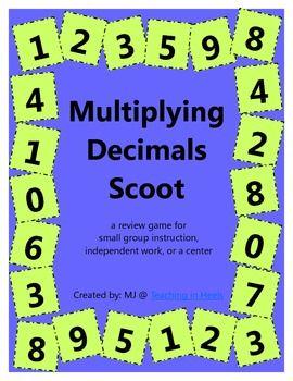 FREE multiplying decimals scoot