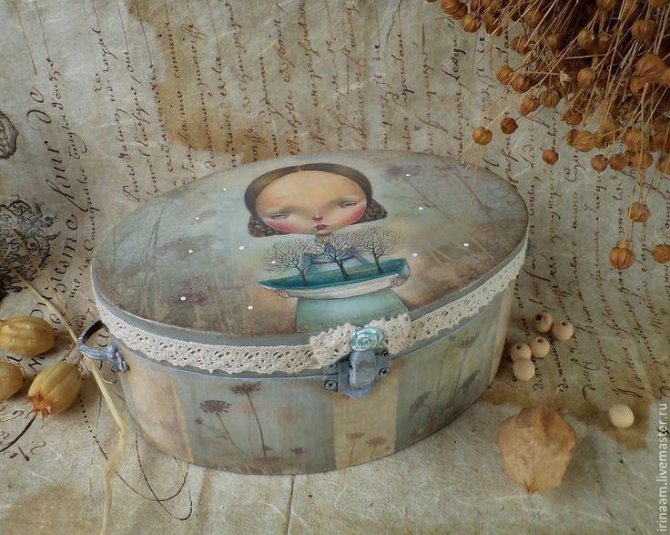 """Купить """" Лодочка плыви """" - очень """"девчачья"""" коробочка - разноцветный, коробочка, коробочка для подарка"""