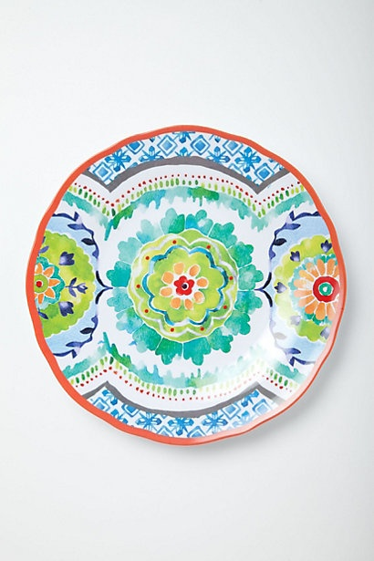 Hacienda Melamine Plate #anthropologie