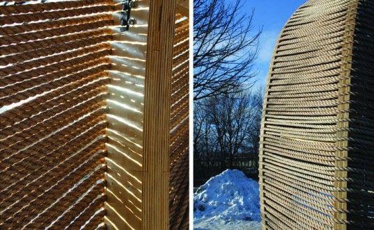 ROPE Pavilion, KNEstudio, warming huts, Assiniboine River, 2012 Warming Huts: An…