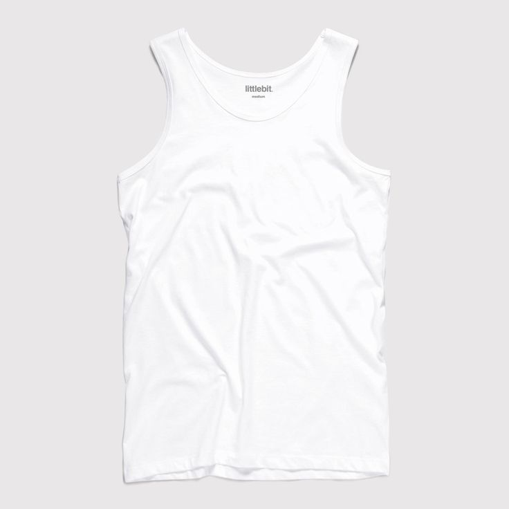 Mens Singlets & Tank. Great quality littlebit singlet. 100% soft cotton. Available in white, navy, grey marle and black. Get a #littlebit #mens #singlet at littlebit.com/men.html. #mensclothing #menstees #basics #casual.