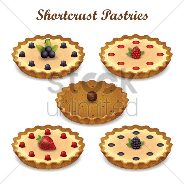 shortcrust pastries vector graphic
