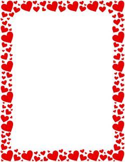 Red Heart Border
