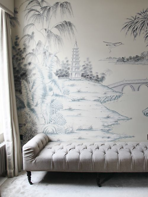 214 best chinoiserie images on pinterest wall murals for Chinoiserie wallpaper mural