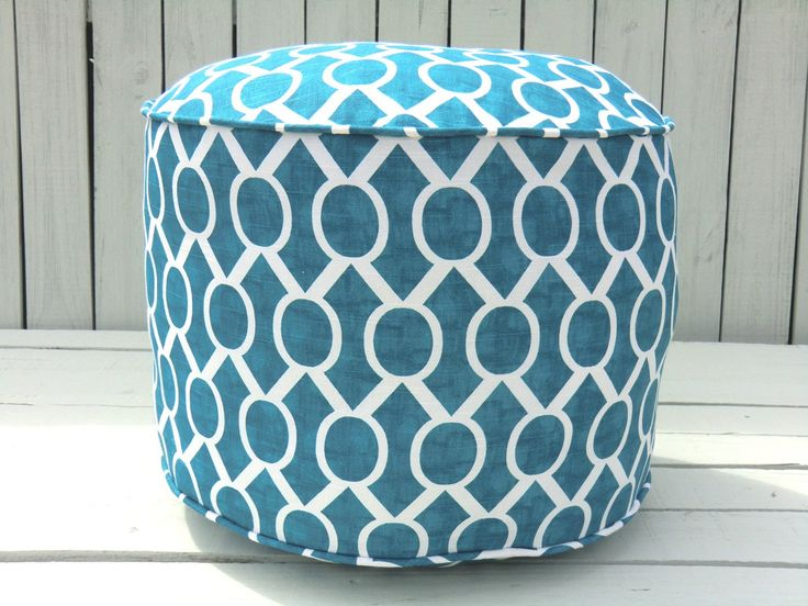 custom listing for ariane round ottoman home and turquoise. Black Bedroom Furniture Sets. Home Design Ideas