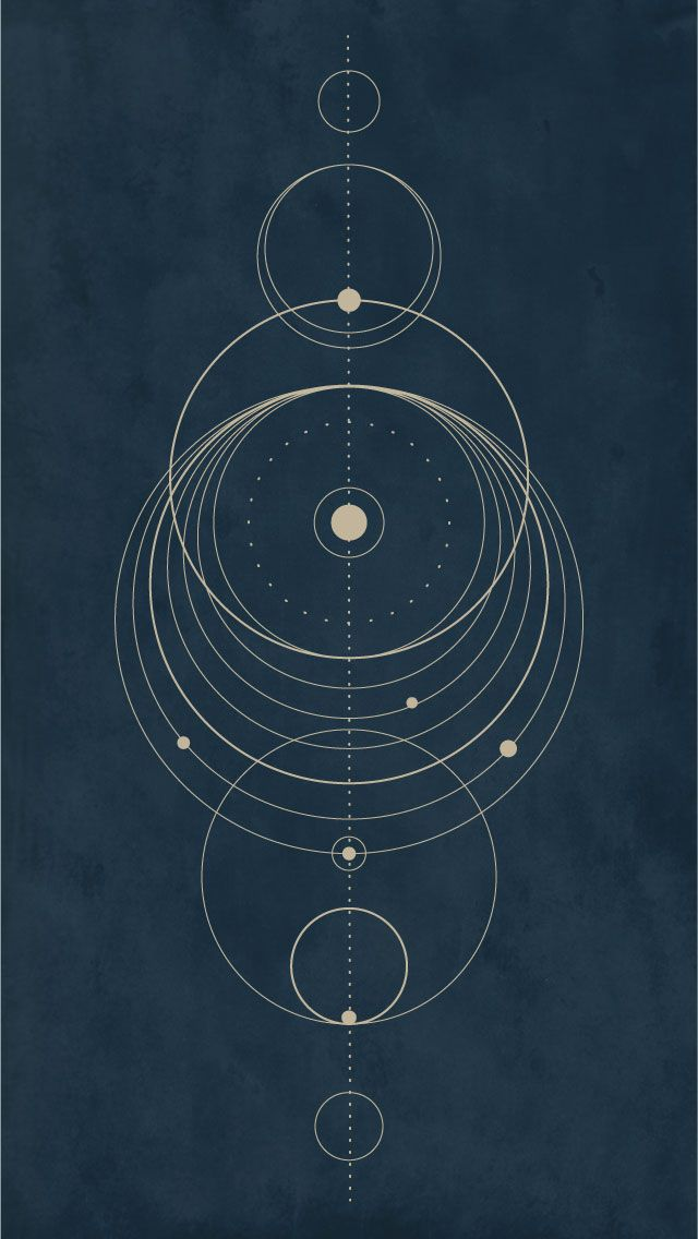 Circle/Solar system design Iphone wallpaper Created on Illustrator by Inga Hampton