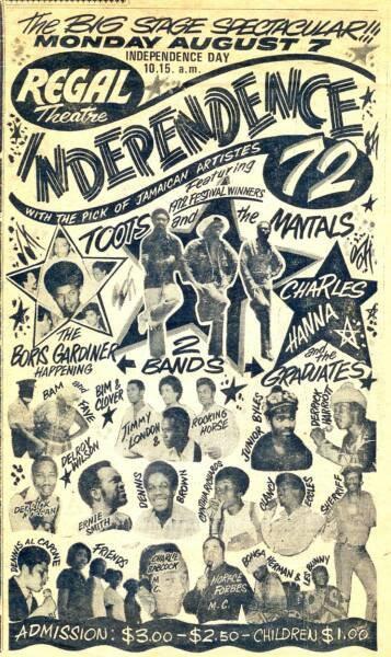 Independence Dance Jamaica 1972