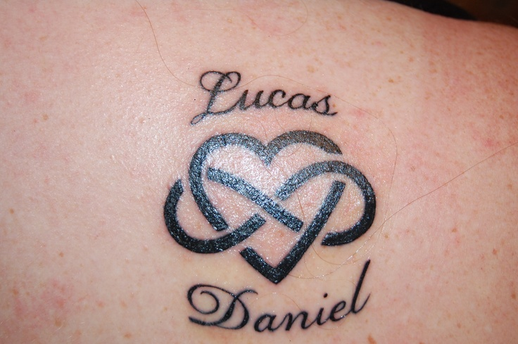 my tatoo I got for my 40th birthday. I wanted on with my boys name and found this tatoo idea on pintrest.