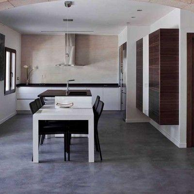 pavimenti in cemento per interni naturale