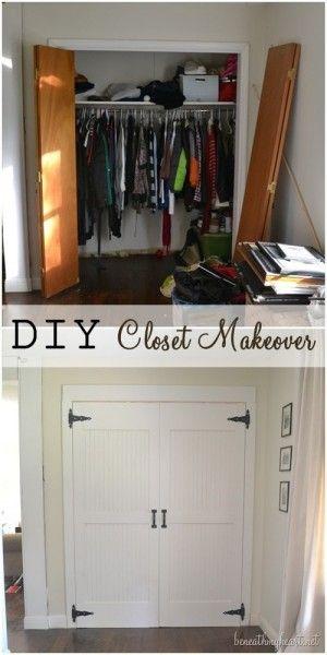 DIY closet door makeover - From folding doors to singles?