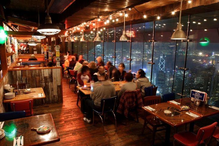 Hong Kong roof top bars - Bubba Gump Shrimp Company