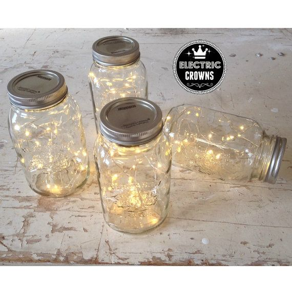 Bundle of Fairy Lights Mason Jar Lights Firefly by ElectricCrowns