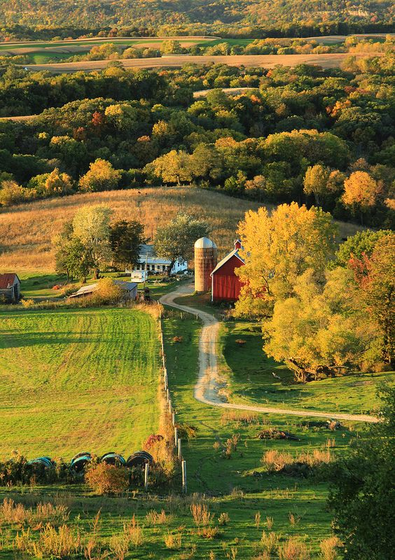 Sunset Farm - Rolling hills of Dubuque County in Northeast Iowa.