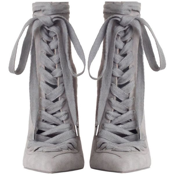 ZIMMERMANN Lace Up Ankle Boot (£335) ❤ liked on Polyvore featuring shoes, boots, ankle booties, heels, ankle boots, lace up heeled boots, high heel ankle booties, high heel boots, lace-up bootie and heeled booties