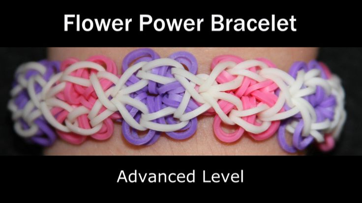 Rainbow Loom® Flower Power Bracelet (+playlist)