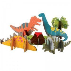 3D-Steckpuzzle Dinosaurier      Das ist wirklich eine schöne Idee zum Kindergeburtstag.Vielen Dank dafür!  Dein blog.balloonas.com    #kindergeburtstag #motto #mottoparty #party #kids #birthday #idea