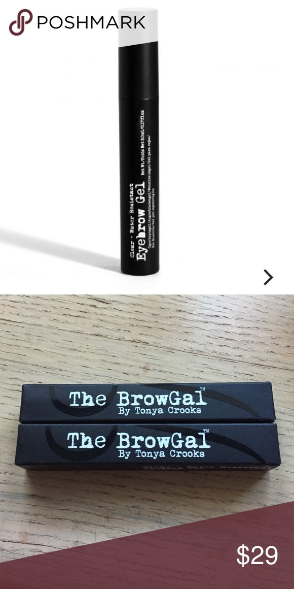 Eyebrow Gel Two The BrowGal water resistant in clear. NWT. NEVER USED the browgal Makeup