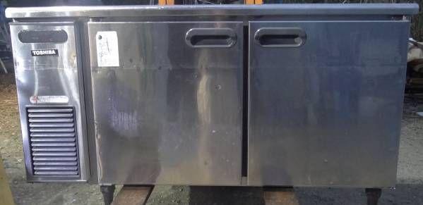 東芝 フクシマ 台下 冷蔵庫 業務用 コールドテーブル 150cm 中古_画像1