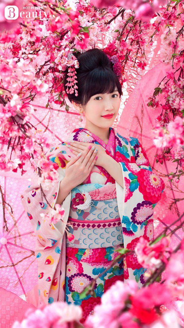 AKB48 member Mayu Watanabe stuns in pink floral kimono