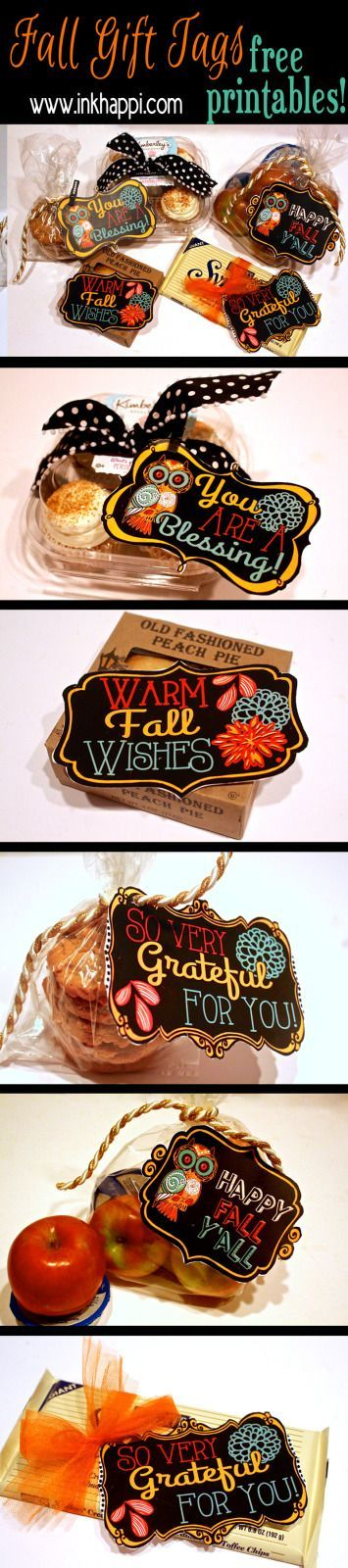 Fall printable gift tags to show your gratitude! ideas and download at inkhappi.com.
