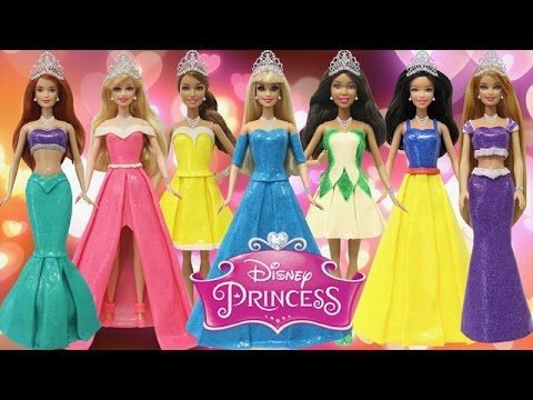 "Play Doh Dresses ""Disney Princess"" Ariel Tiana Cinderella Snow White Aur..."