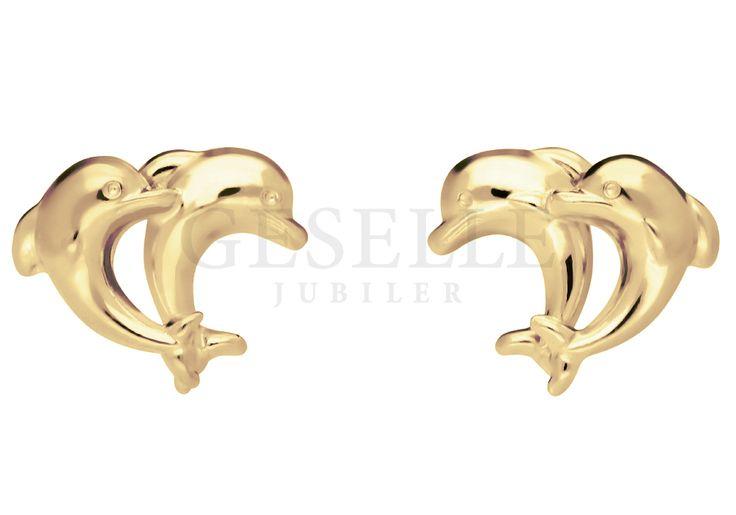 Kolczyki AU/G/585 - delfiny - Piorunujące wrażenie Delikatne i subtelne, dzięki…