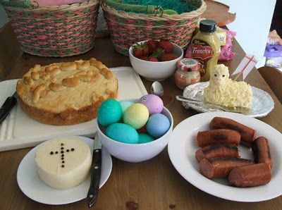 Polish Easter Baskets. Ideas for traditionally Polish foods for Easter lunch. From Frugally Blonde on Catholic Icing.