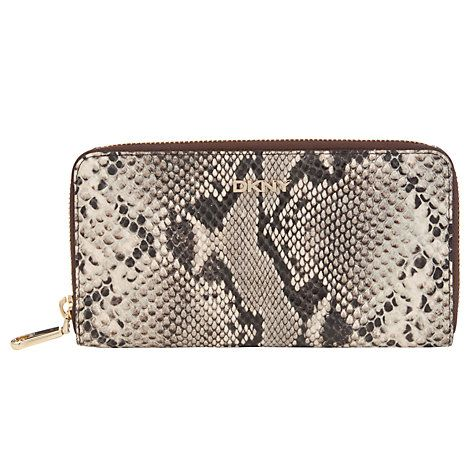 Buy DKNY Printed Python Zip Around Leather Purse, Natural Snake Online at johnlewis.com