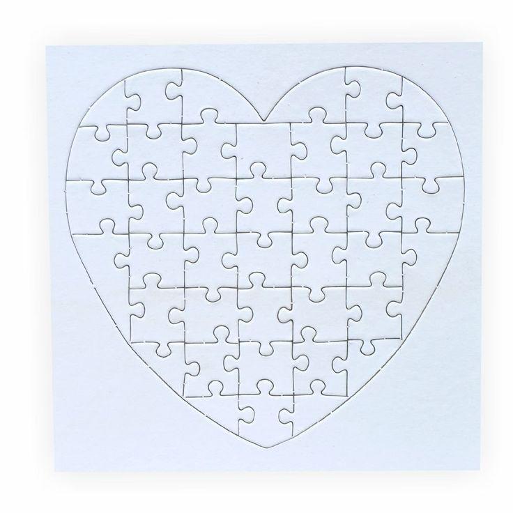 Creleo 790087 Puzzle zum bemalen Herz, 40 Teile, 10 Stück, selbst - küchen selber gestalten