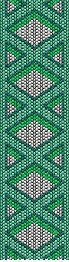 Free Odd Count Peyote Pattern-Criss Cross Design | MyAmari