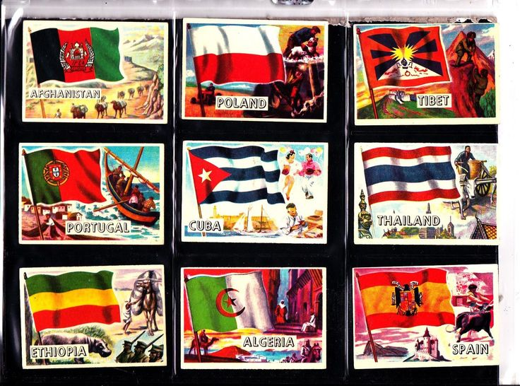 Flags Of the World A&BC Gum 1963 Small version size Full Set of 80 cards | eBay