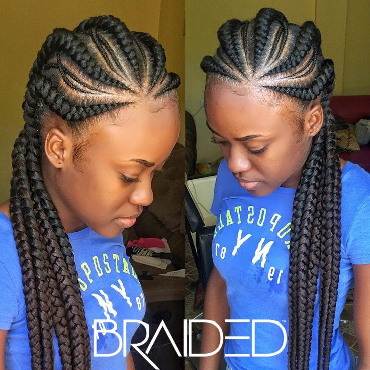 pin braided cornrows
