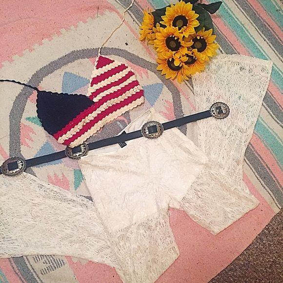 American flag crochet crop top  Tops Crop Tops