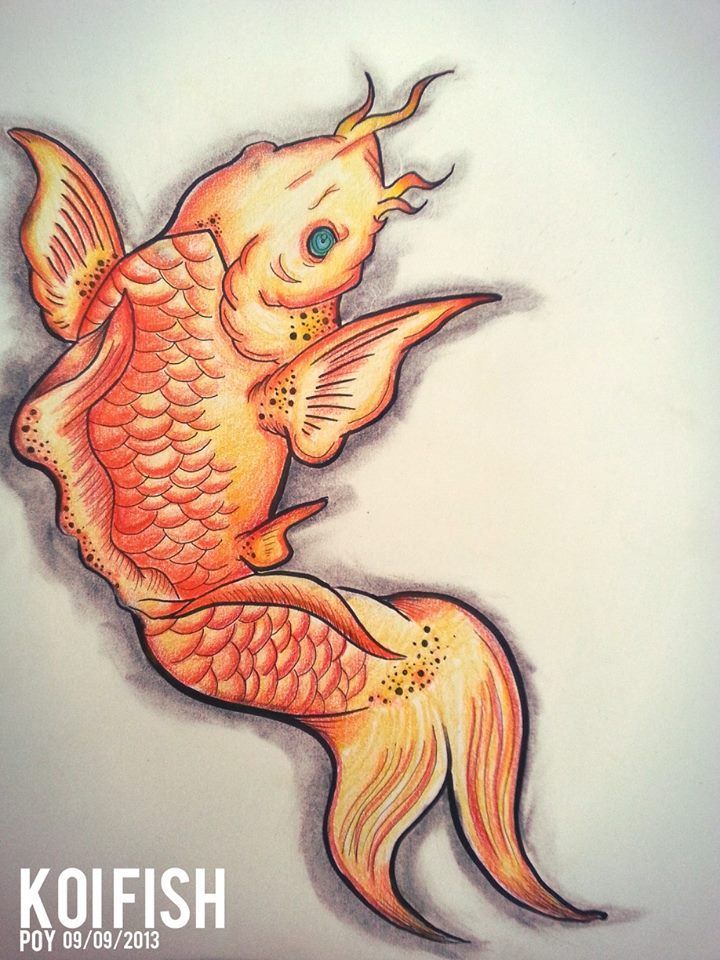 76 best tattoos images on pinterest floral tattoos for Amazing koi fish